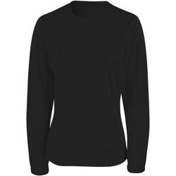 Textiel Dames T-shirts met lange mouwen Spiro S254F Zwart