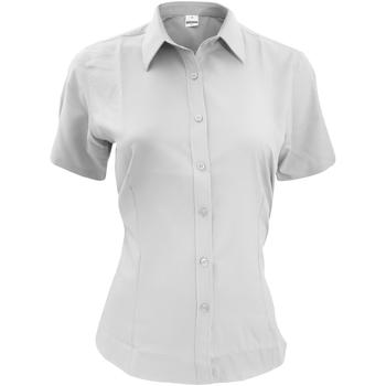 Textiel Heren Overhemden korte mouwen Henbury HB596 Wit