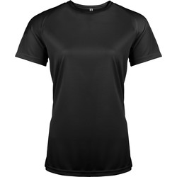 Textiel Dames T-shirts korte mouwen Kariban Proact PA439 Zwart