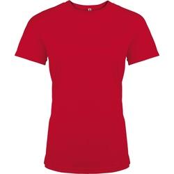 Textiel Dames T-shirts korte mouwen Kariban Proact PA439 Rood