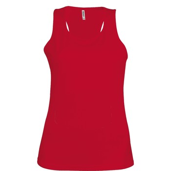 Textiel Dames Mouwloze tops Kariban Proact Proact Rood
