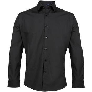 Textiel Heren Overhemden lange mouwen Premier PR207 Zwart