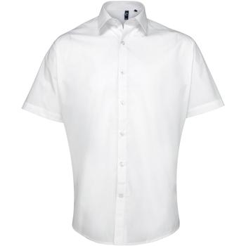 Textiel Heren Overhemden korte mouwen Premier PR209 Wit