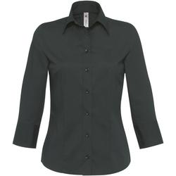 Textiel Dames Overhemden B And C Milano Zwart
