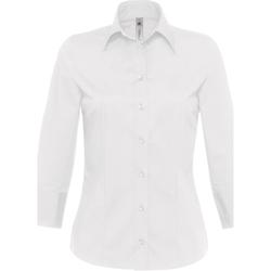 Textiel Dames Overhemden B And C Milano Wit