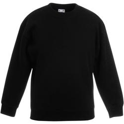 Textiel Kinderen Sweaters / Sweatshirts Fruit Of The Loom 62031 Zwart