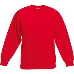 Textiel Kinderen Sweaters / Sweatshirts Fruit Of The Loom 62031 Rood