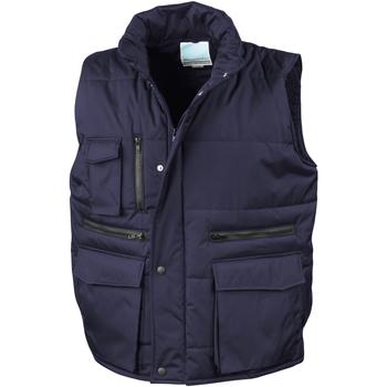 Textiel Heren Vesten / Cardigans Result R127A Marine