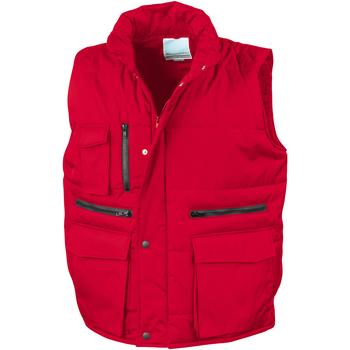 Textiel Heren Vesten / Cardigans Result R127A Rood