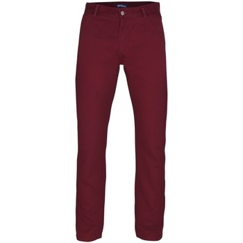 Textiel Heren Chino's Asquith & Fox AQ050 Bourgondië