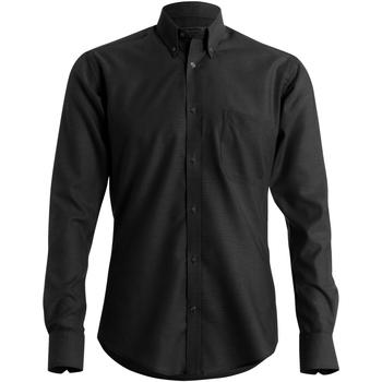 Textiel Heren Overhemden lange mouwen Kustom Kit KK184 Zwart