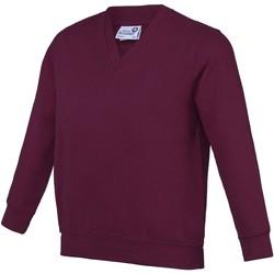 Textiel Kinderen Sweaters / Sweatshirts Awdis AC03J Bourgondië