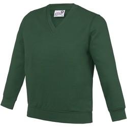 Textiel Kinderen Sweaters / Sweatshirts Awdis AC03J Groen