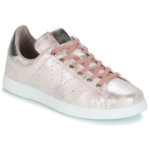 Schoenen Dames Lage sneakers Victoria TENIS METALIZADO Roze