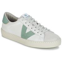 Schoenen Dames Lage sneakers Victoria BERLIN PIEL CONTRASTE Wit / Groen