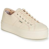 Schoenen Dames Lage sneakers Victoria BARCELONA LONA MONOCROMO Beige
