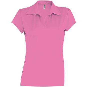 Textiel Dames Polo's korte mouwen Kariban Proact PA483 Fuchsia