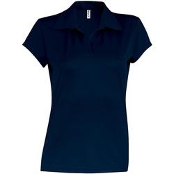 Textiel Dames Polo's korte mouwen Kariban Proact PA483 Marine