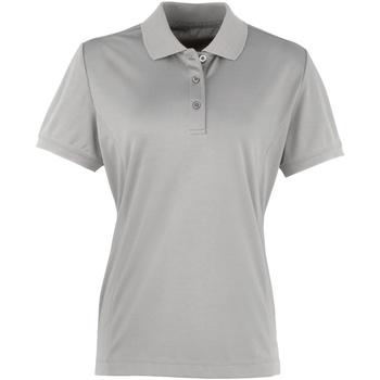 Textiel Dames Polo's korte mouwen Premier PR616 Zilver