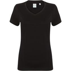 Textiel Dames T-shirts korte mouwen Skinni Fit SK122 Zwart