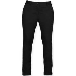 Textiel Dames Chino's Front Row FR622 Zwart