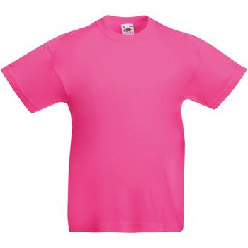 Textiel Kinderen T-shirts korte mouwen Fruit Of The Loom 61019 Fuchsia