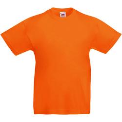 Textiel Kinderen T-shirts korte mouwen Fruit Of The Loom 61019 Oranje