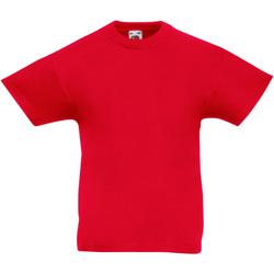 Textiel Kinderen T-shirts korte mouwen Fruit Of The Loom 61019 Rood