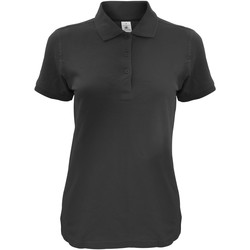 Textiel Dames Polo's korte mouwen B And C Safran Zwart