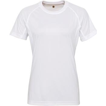 Textiel Dames T-shirts korte mouwen Tridri Panelled Wit