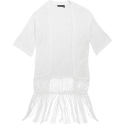 Textiel Dames Vesten / Cardigans Brave Soul Kimono Wit