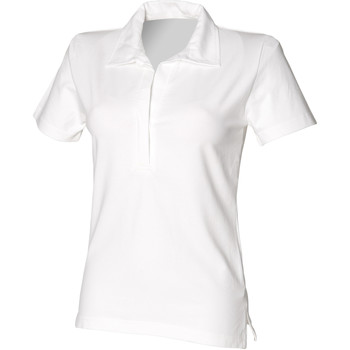 Textiel Dames Polo's korte mouwen Front Row FR78M Wit