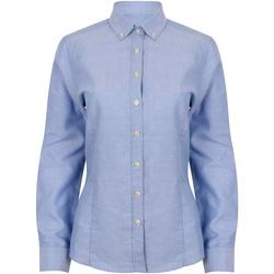 Textiel Dames Overhemden Henbury HB513 Blauw