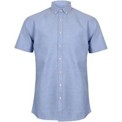 Textiel Heren Overhemden korte mouwen Henbury HB517 Blauw