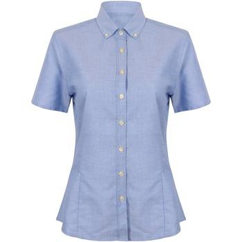 Textiel Dames Overhemden Henbury HB518 Blauw
