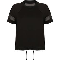 Textiel Dames T-shirts korte mouwen Tombo TL526 Zwart