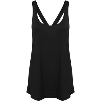 Textiel Dames Mouwloze tops Skinni Fit Workout Zwart