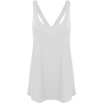 Textiel Dames Mouwloze tops Skinni Fit Workout Wit