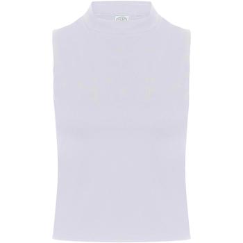 Textiel Dames Mouwloze tops Skinni Fit SK170 Wit
