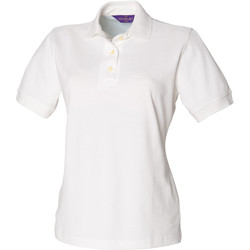 Textiel Dames Polo's korte mouwen Henbury HB121 Wit