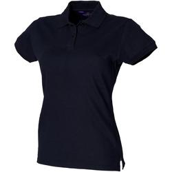 Textiel Dames Polo's korte mouwen Henbury HB306 Marine