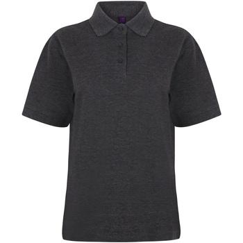 Textiel Dames Polo's korte mouwen Henbury HB401 Houtskool