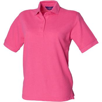 Textiel Dames Polo's korte mouwen Henbury HB401 Fuchsia