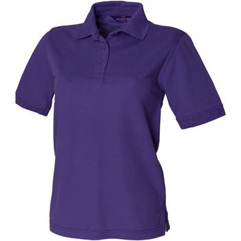 Textiel Dames Polo's korte mouwen Henbury HB401 Paars