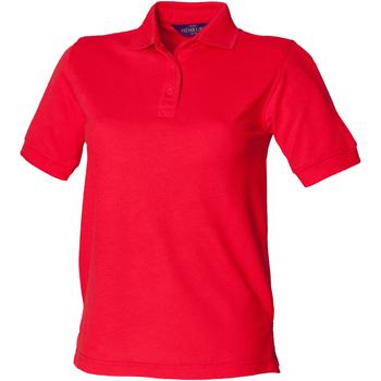 Textiel Dames Polo's korte mouwen Henbury HB401 Rood