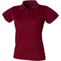 Textiel Dames Polo's korte mouwen Henbury Coolplus Bourgondië