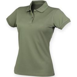 Textiel Dames Polo's korte mouwen Henbury Coolplus Olijf