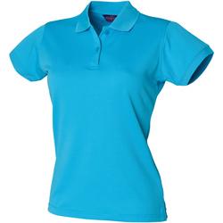 Textiel Dames Polo's korte mouwen Henbury Coolplus Turquoise