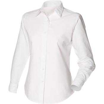 Textiel Dames Overhemden Henbury Classic Oxford Wit