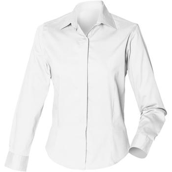 Textiel Dames Overhemden Henbury HB551 Wit
